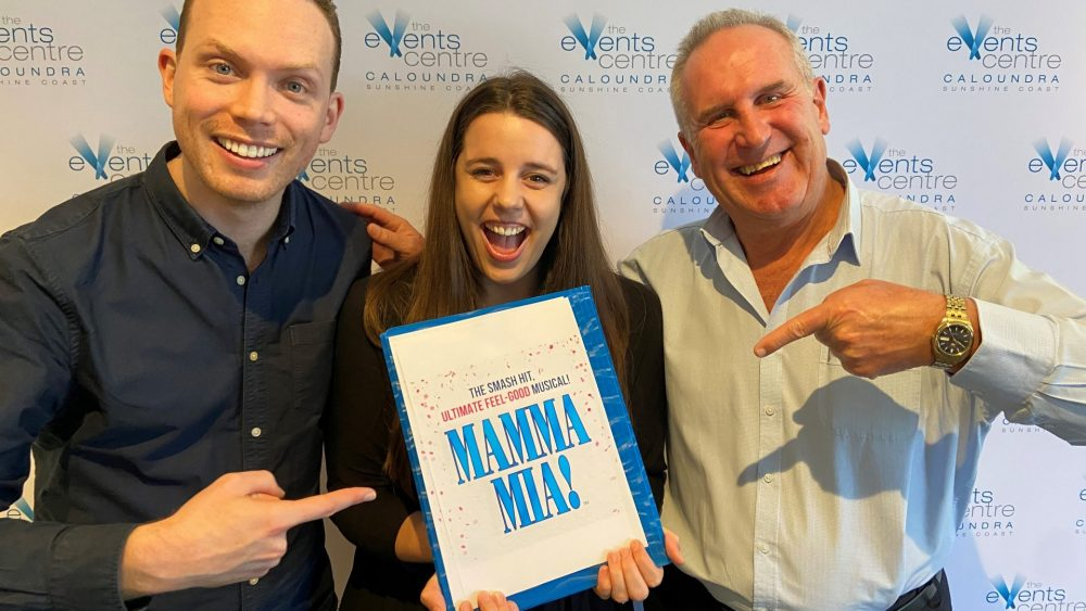 Sam Klingner and Katharine Head from The Show Co. and Steve Romer from The Events Centre Caloundra