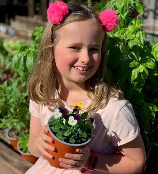 Maddie James at the QLD Garden Expo